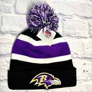 🆕 NFL Baltimore Ravens Kids Beanie-Toboggan
